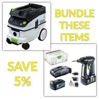 Bundle & Save! - CT 26 Dust Extractor + Festool C 18 Drill with Airstream Batteries | Set