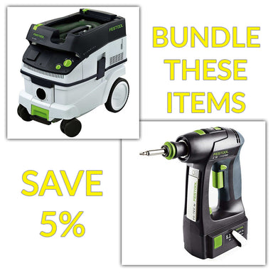 Bundle & Save! - CT 26 Dust Extractor + Festool C 18 Drill with Airstream Batteries | Basic