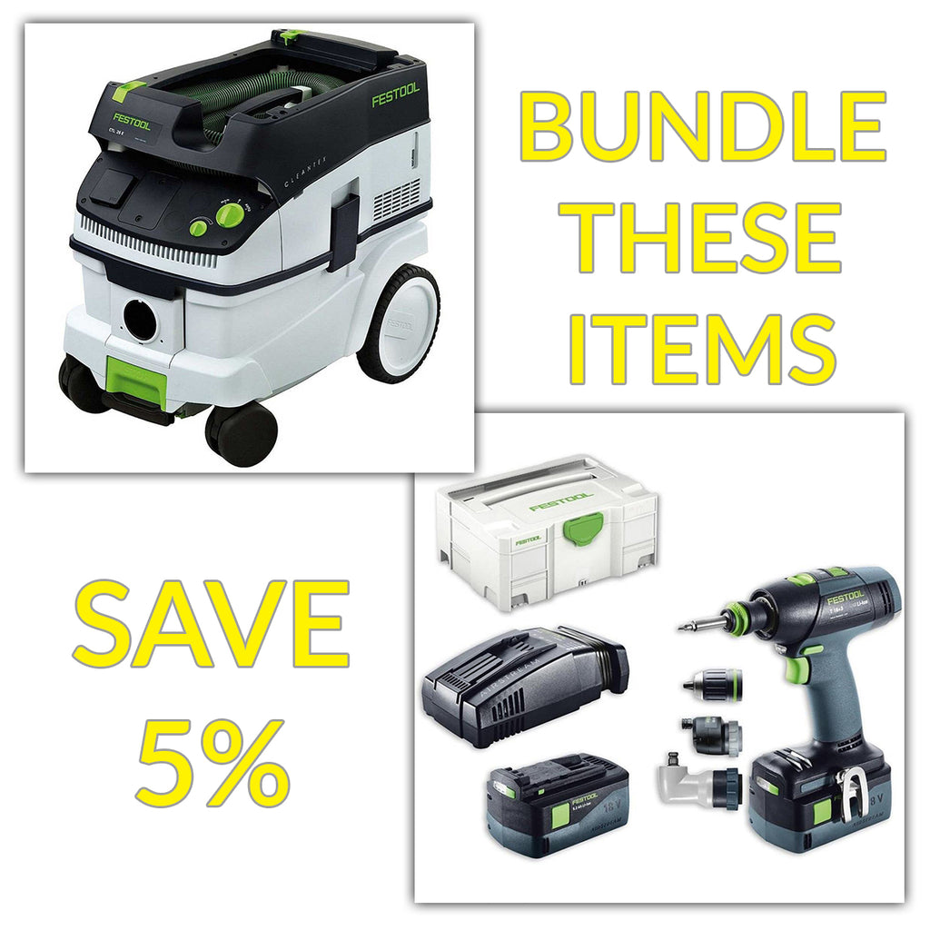 Bundle & Save! - CT 26 Dust Extractor + Festool T 18 Drill with Airstream Batteries | Set