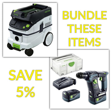 Bundle & Save! - CT 26 Dust Extractor + Festool BHC 18 SDS Rotary Hammer Drill | Set