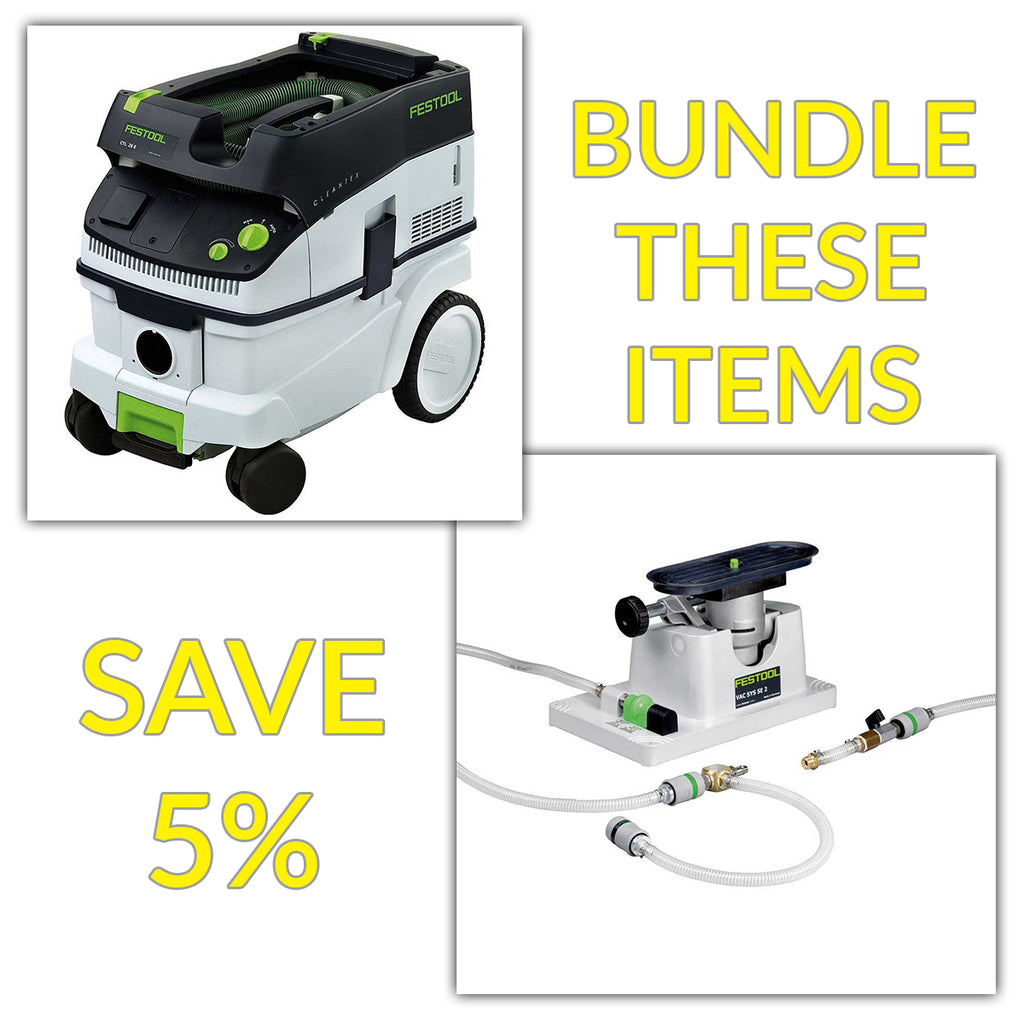 Bundle & Save! - CT 26 Dust Extractor + Festool VAC SYS SE 2 Clamping Module