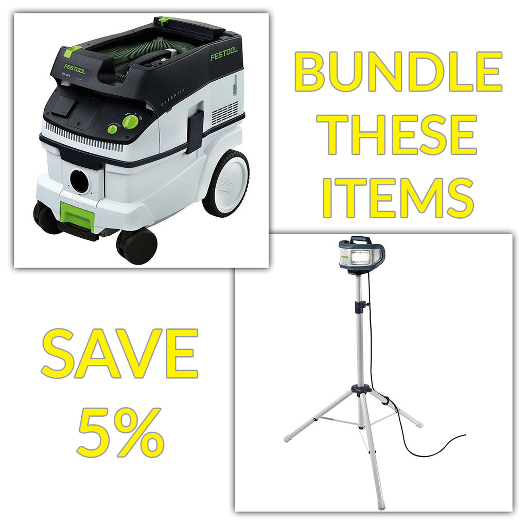 Bundle & Save! - CT 26 Dust Extractor + Festool SYSLITE DUO Work Light | Plus