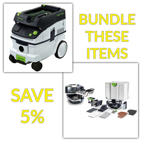 Bundle & Save! - CT 26 Dust Extractor + Festool Conturo KA 65 Edge Bander | Conturo Set