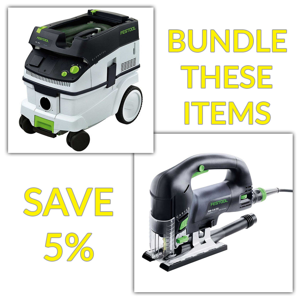Bundle & Save! - CT 26 Dust Extractor + Festool Carvex Jigsaws - PS 420 EBQ & PSB 420 EBQ | D-Handle