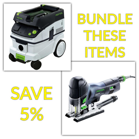Bundle & Save! - CT 26 Dust Extractor + Festool Carvex Jigsaws - PS 420 EBQ & PSB 420 EBQ | Barrel Handle