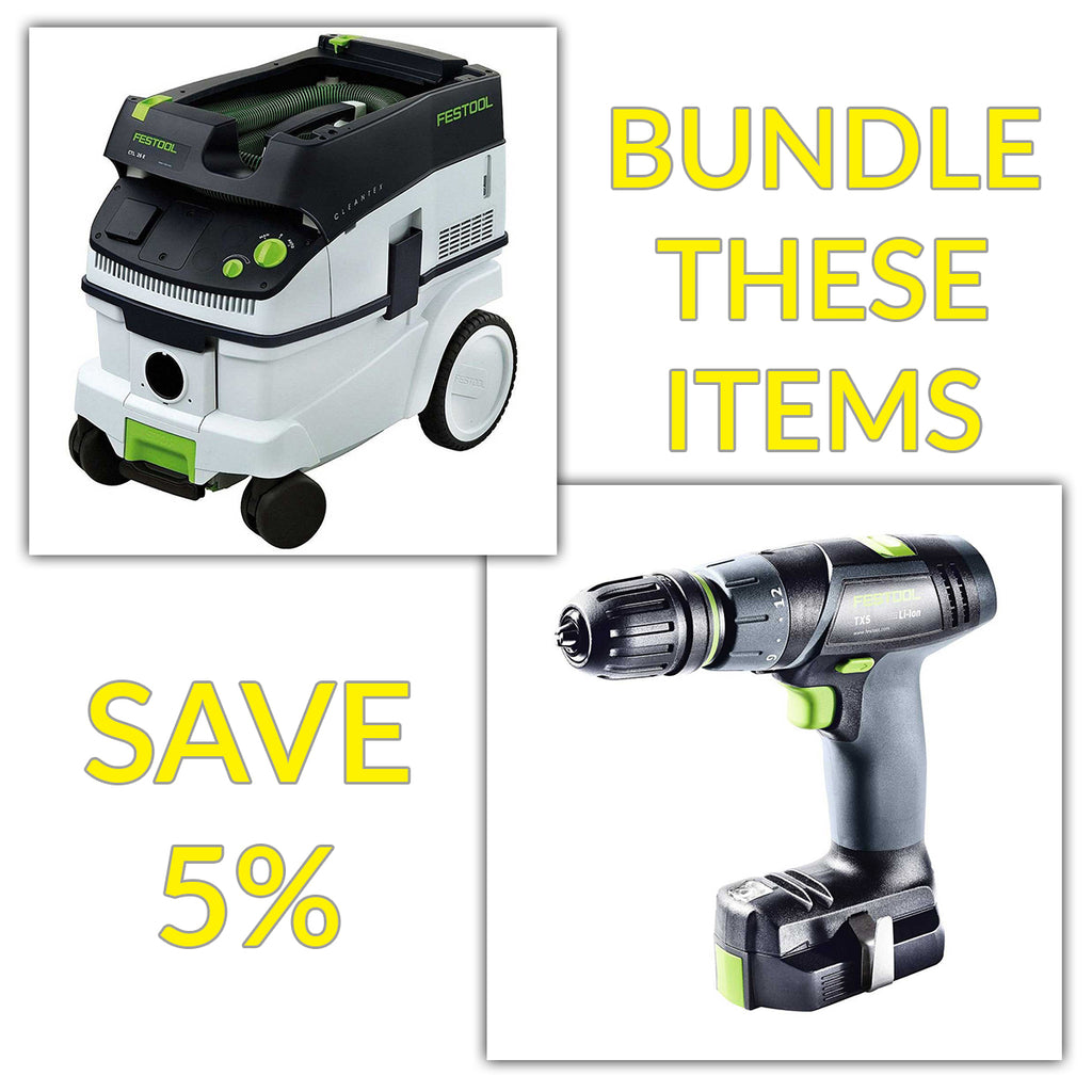 Bundle & Save! - CT 26 Dust Extractor + Festool TXS Compact Drill - T Handle Style | Basic