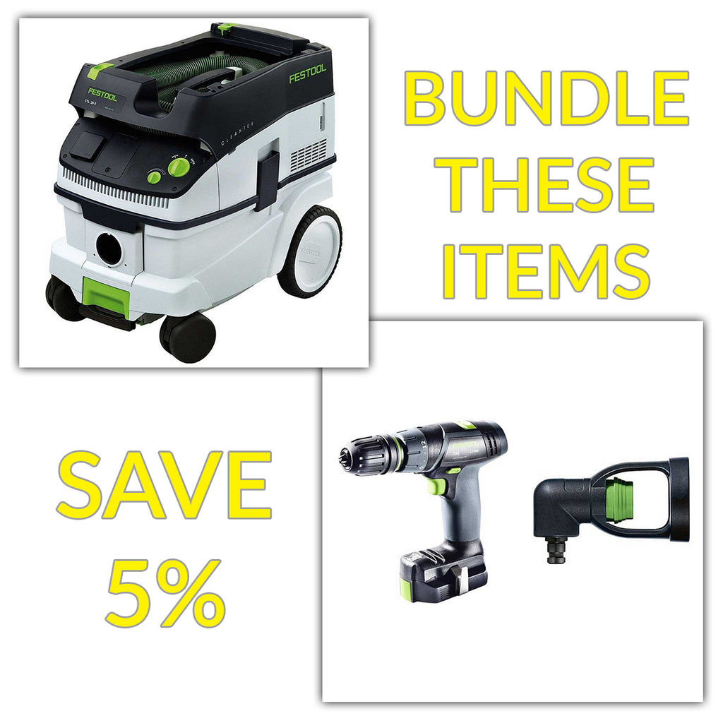 Bundle & Save! - CT 26 Dust Extractor + Festool TXS Compact Drill - T Handle Style | Set