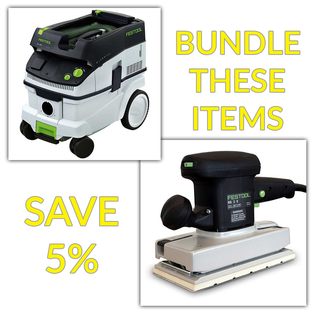 Bundle & Save! - CT 26 Dust Extractor + Festool RS 2 E Orbital Sander | RS 2 E