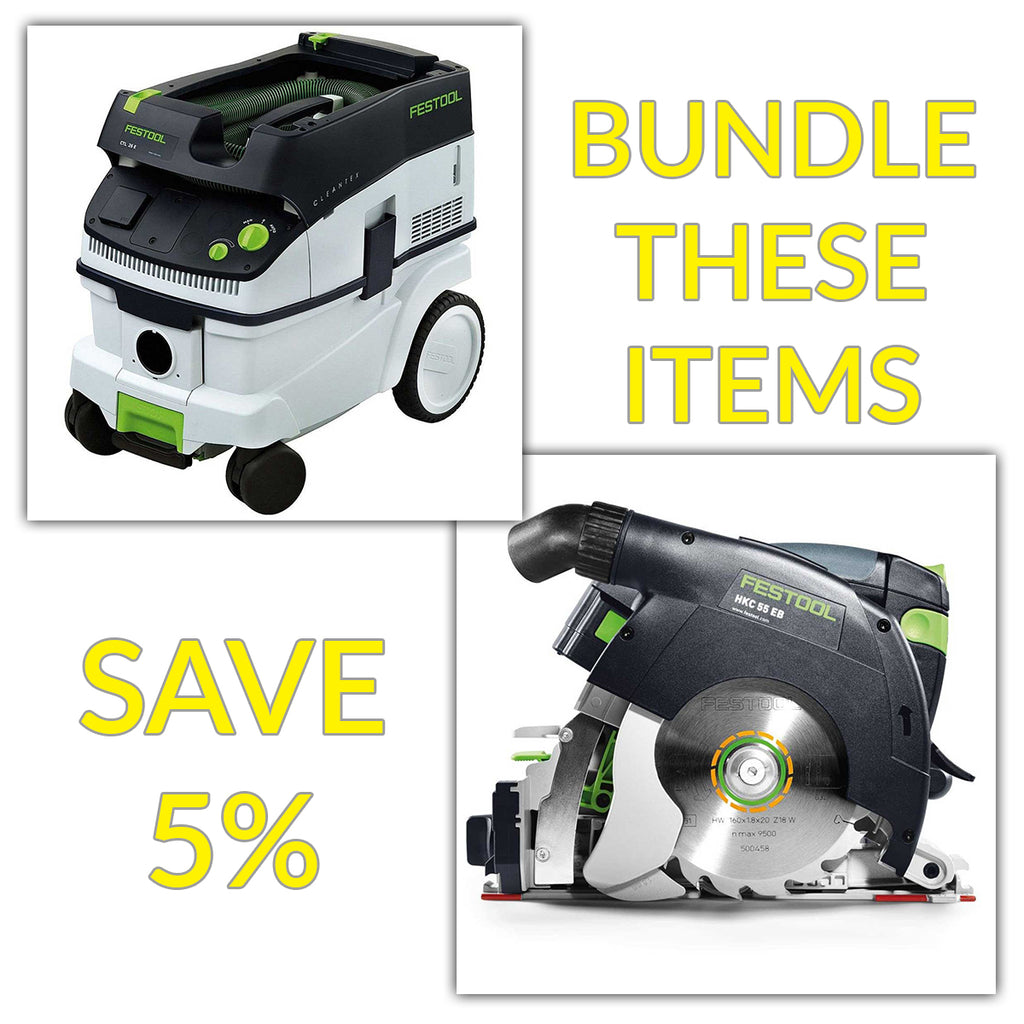 Bundle & Save! - CT 26 Dust Extractor + Festool Cordless HKC 55 Carpentry Tracksaws | Basic