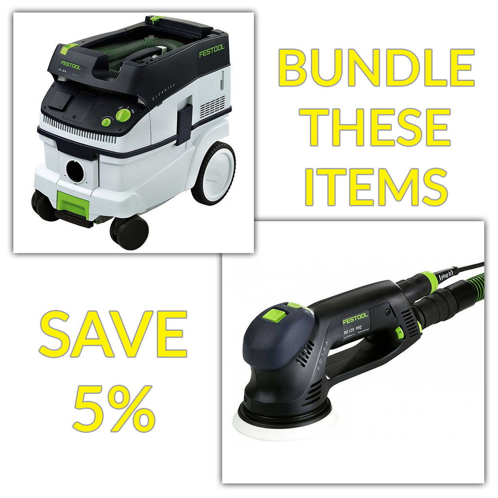 "Bundle & Save! - CT 26 Dust Extractor + Festool RO 125 FEQ - 5"" Rotex Dual-Mode Sander"