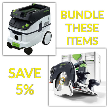 Bundle & Save! - CT 26 Dust Extractor + Festool Cordless HKC 55 Carpentry Tracksaws | Plus