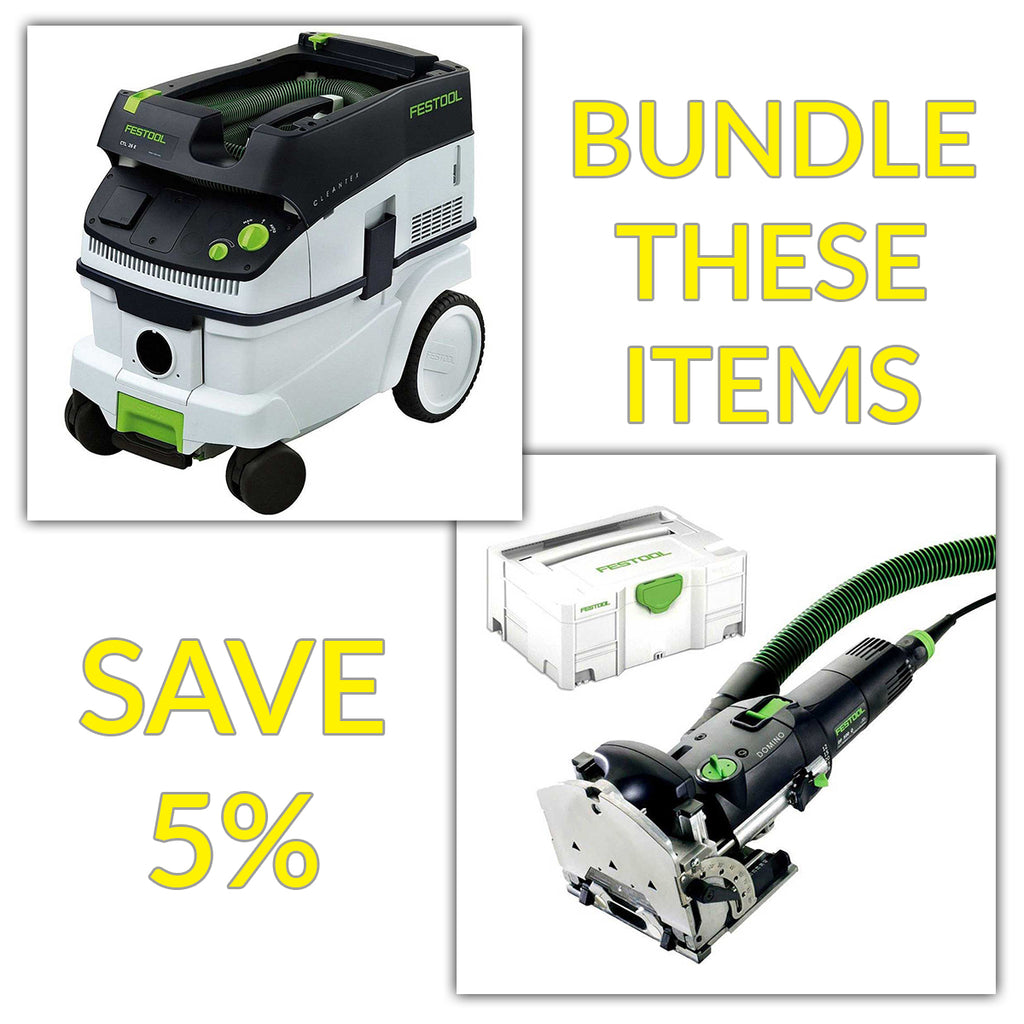 Bundle & Save! - CT 26 Dust Extractor + Festool Domino Joiner DF 500 | Non Set