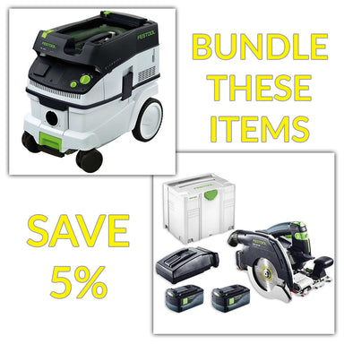 Bundle & Save! - CT 26 Dust Extractor + Festool Cordless HKC 55 Carpentry Tracksaws | Set