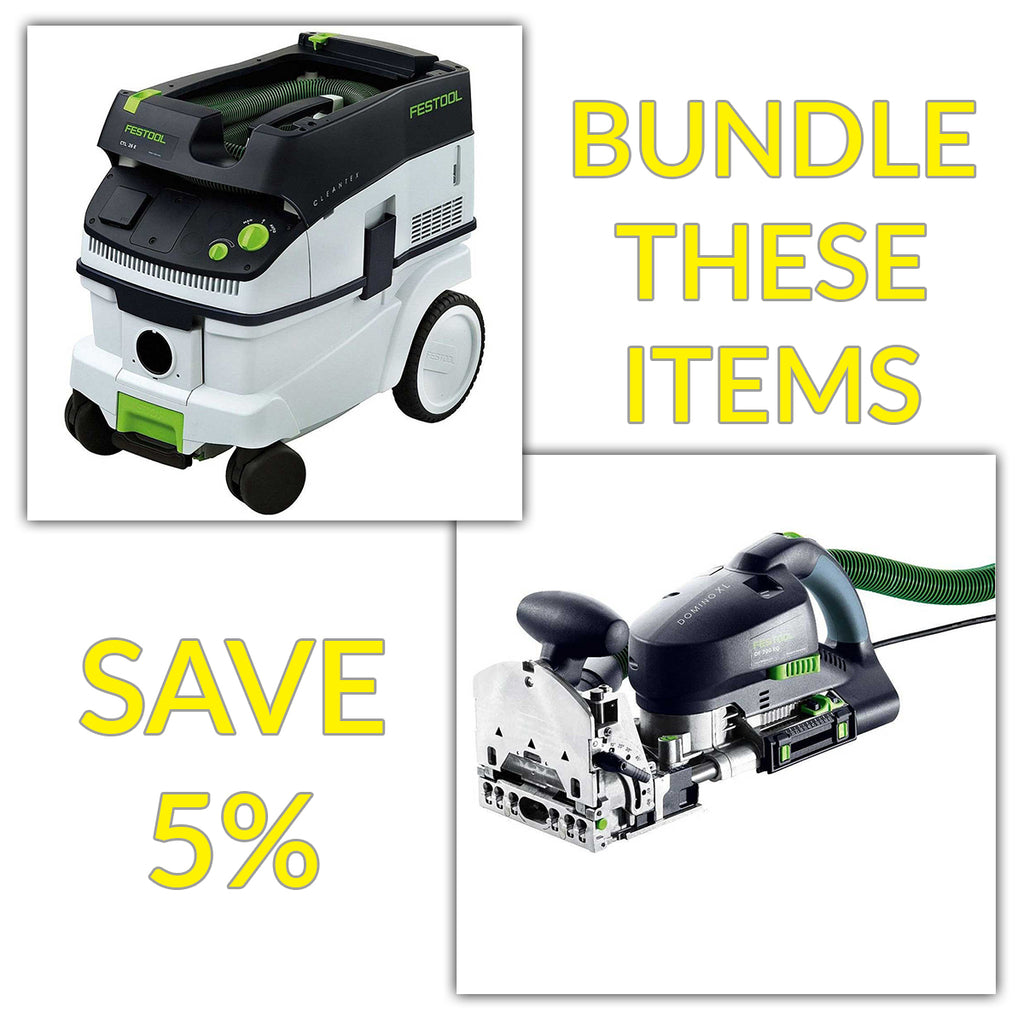 Bundle & Save! - CT 26 Dust Extractor + Festool Domino Joiner XL DF 700 | Non Set