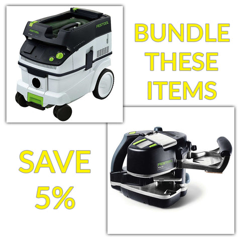 Bundle & Save! - CT 26 Dust Extractor + Festool Conturo KA 65 Edge Bander | Non Set