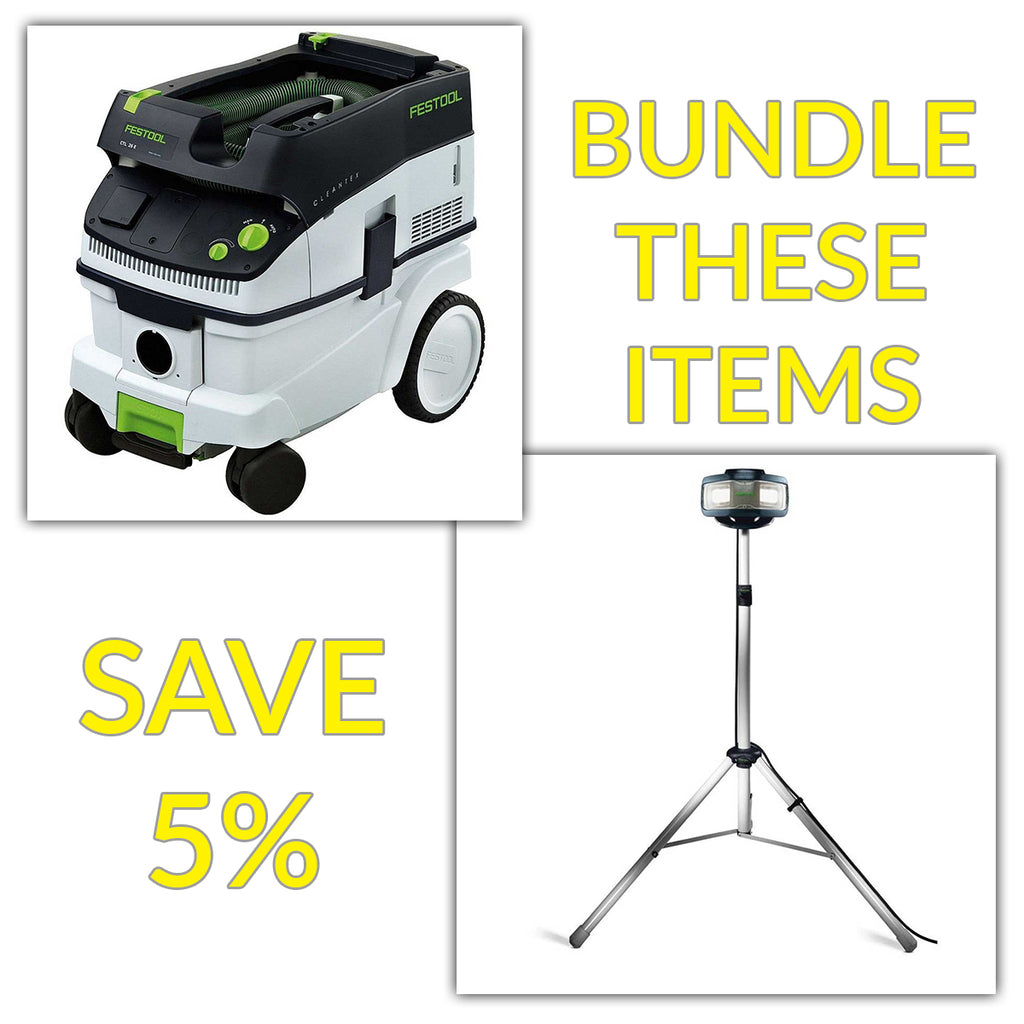 Bundle & Save! - CT 26 Dust Extractor + Festool SYSLITE DUO Work Light | Set