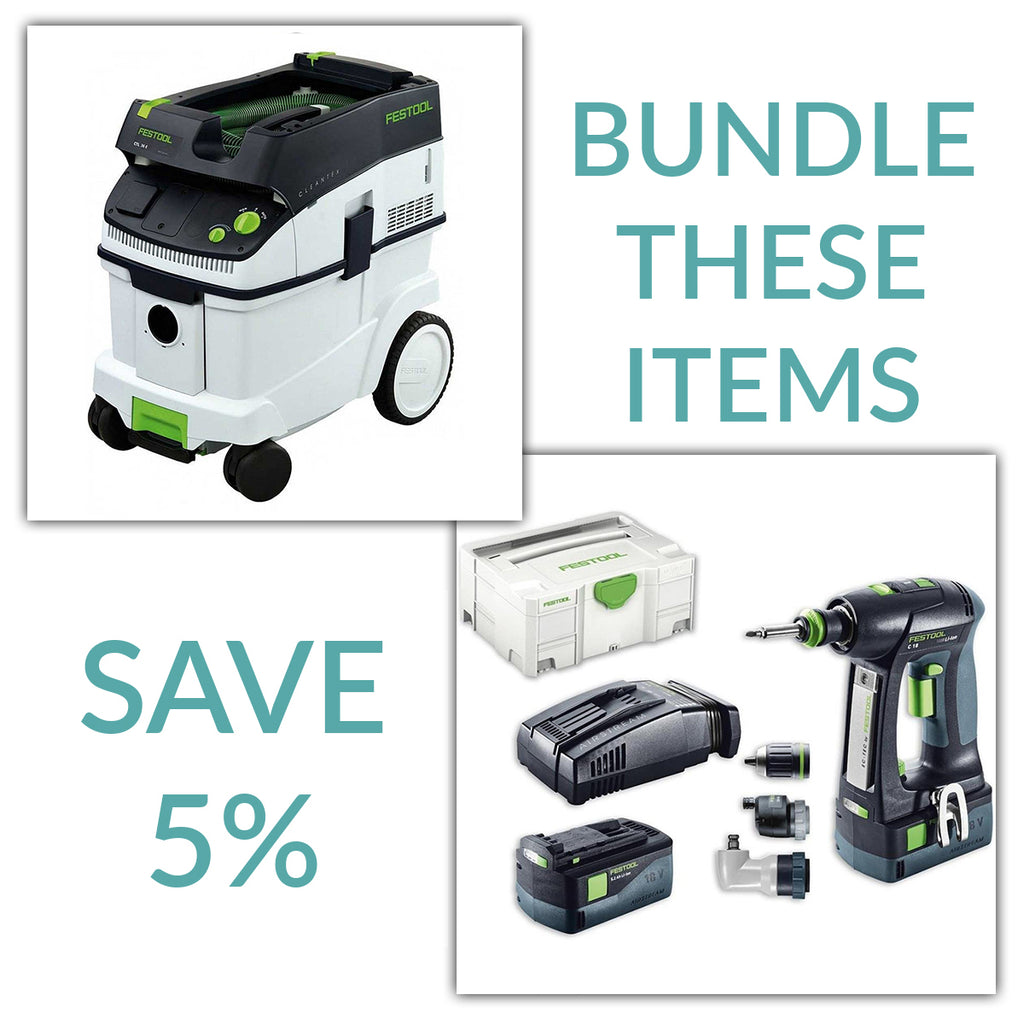 Bundle & Save! - CT 36 Dust Extractor + Festool C 18 Drill with Airstream Batteries | Set