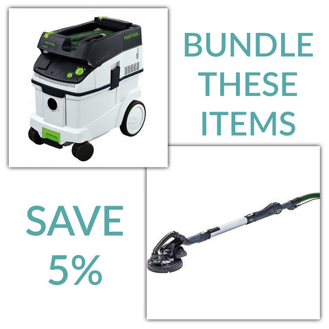 Bundle & Save! - CT 36 Dust Extractor + Festool Planex Drywall Sander - LHS 225