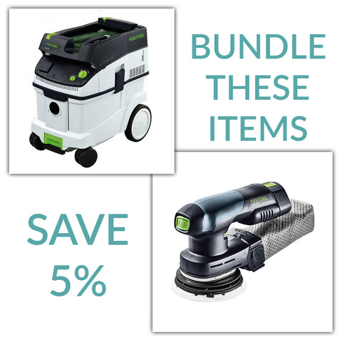 "Bundle & Save! - CT 36 Dust Extractor + Festool ETSC 125 5"" Cordless Random Orbit Sander 