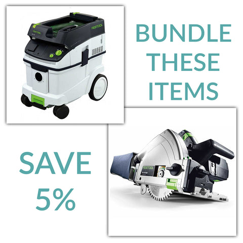 "Bundle & Save! - CT 36 Dust Extractor + Festool TS 55 REQ Track Saw | w/FS 1400 55"" Guide Rail"