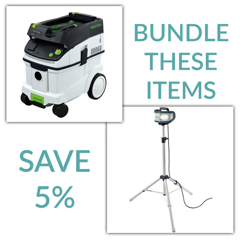 Bundle & Save! - CT 36 Dust Extractor + Festool SYSLITE DUO Work Light | Plus