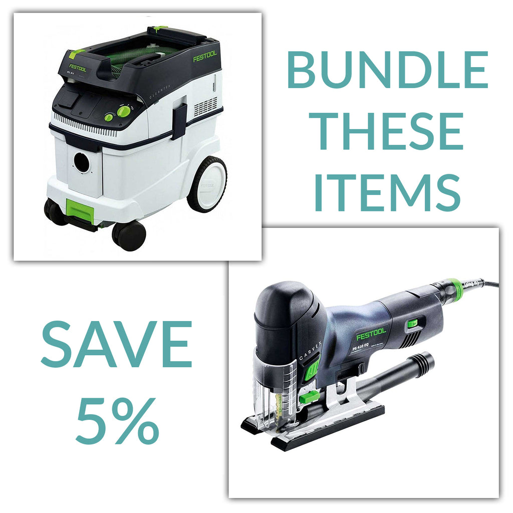 Bundle & Save! - CT 36 Dust Extractor + Festool Carvex Jigsaws - PS 420 EBQ & PSB 420 EBQ | D-Handle