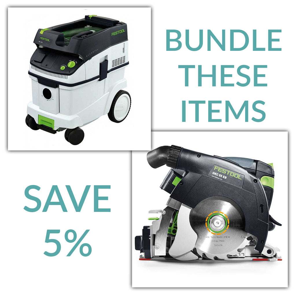 Bundle & Save! - CT 36 Dust Extractor + Festool Cordless HKC 55 Carpentry Tracksaws | Basic