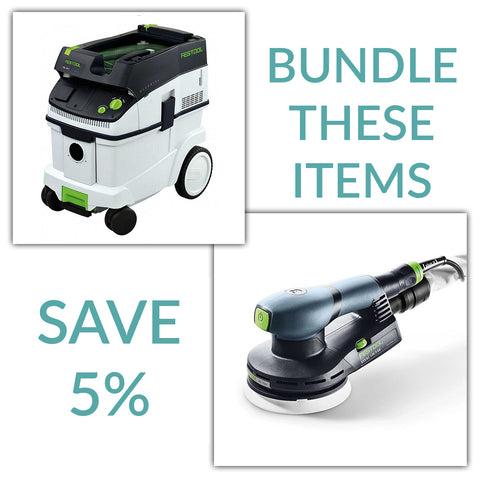 "Bundle & Save! - CT 36 Dust Extractor + Festool ETS EC Brushless Random Orbital Sanders | 5"" 3mm Stroke Random"