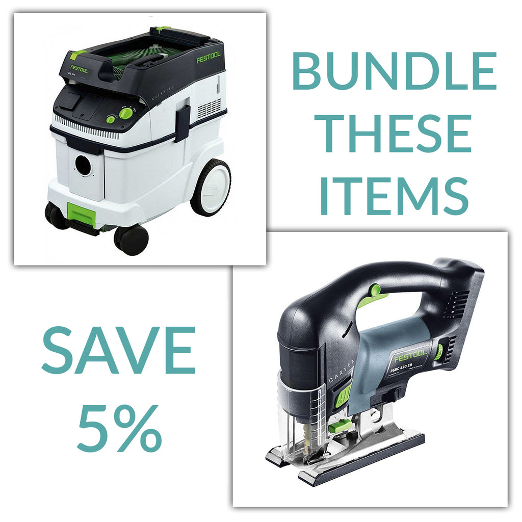 Bundle & Save! - CT 36 Dust Extractor + Festool Cordless Carvex D-Handle Jigsaw | Tool Only