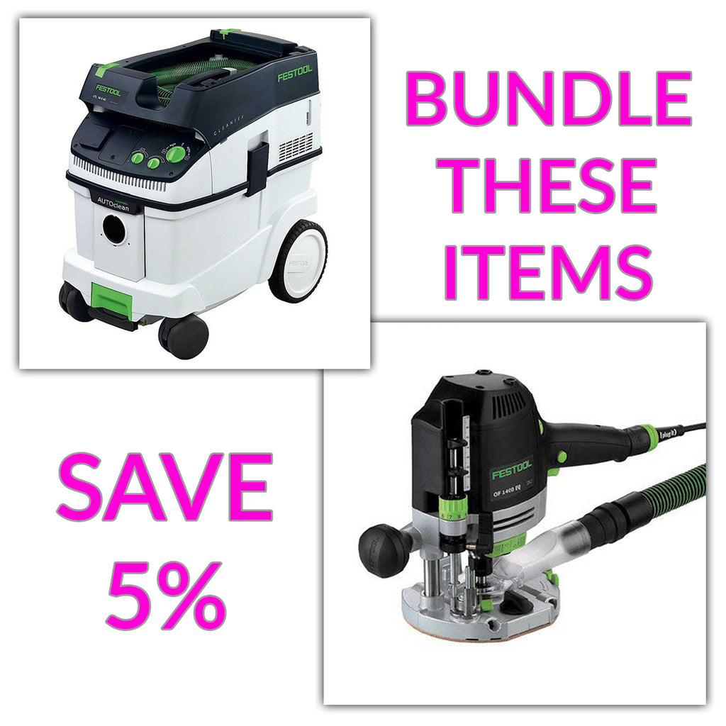 Bundle & Save! - CT 36 AC - AutoClean Dust Extractor + Festool Router OF 1400 EQ