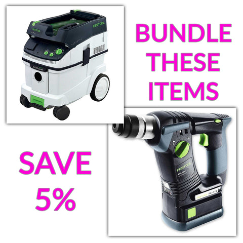 Bundle & Save! - CT 36 AC - AutoClean Dust Extractor + Festool BHC 18 SDS Rotary Hammer Drill | Basic