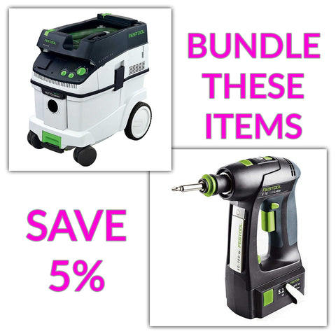 Bundle & Save! - CT 36 AC - AutoClean Dust Extractor + Festool C 18 Drill with Airstream Batteries | Basic