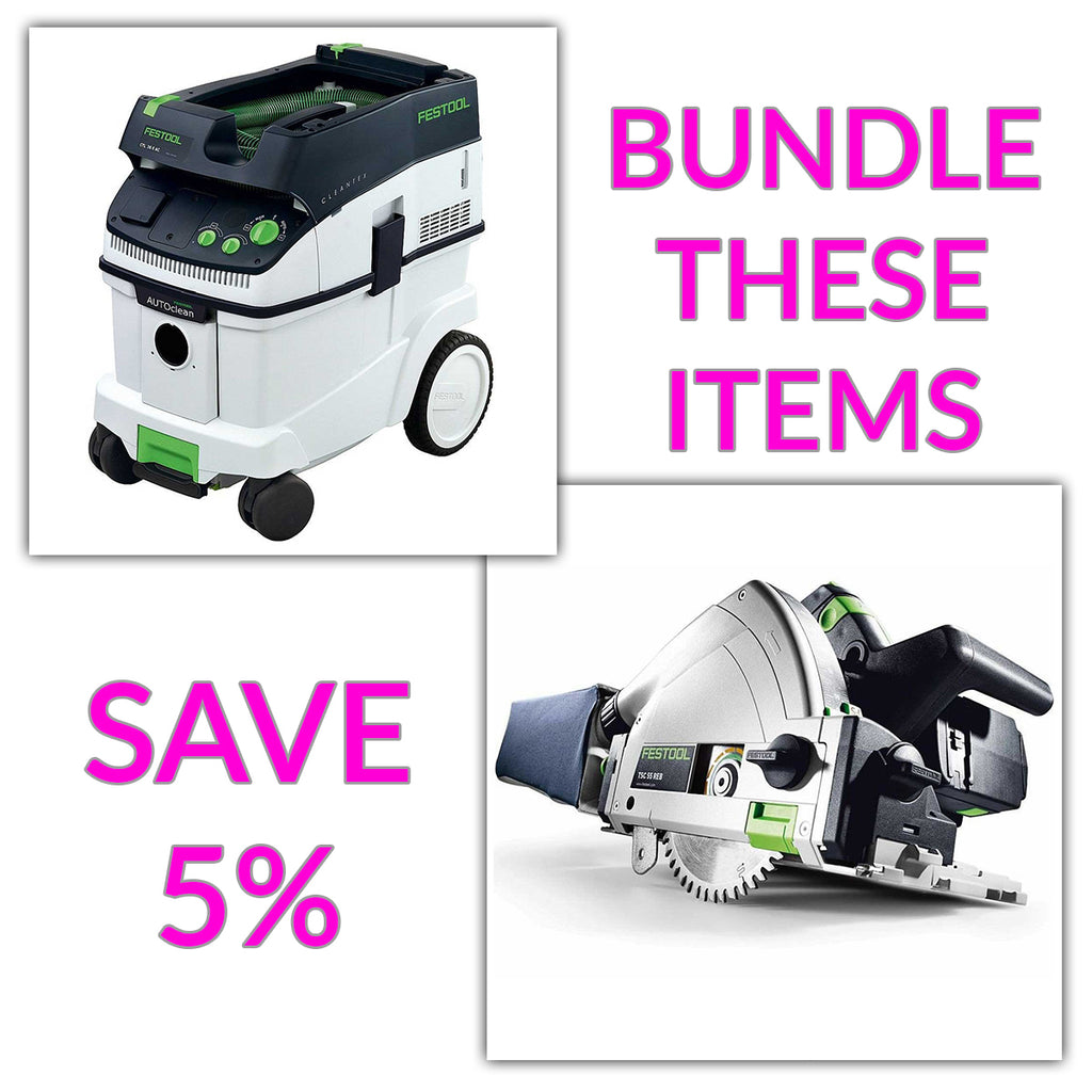 "Bundle & Save! - CT 36 AC - AutoClean Dust Extractor + Festool TS 55 REQ Track Saw | w/FS 1400 55"" Guide Rail"