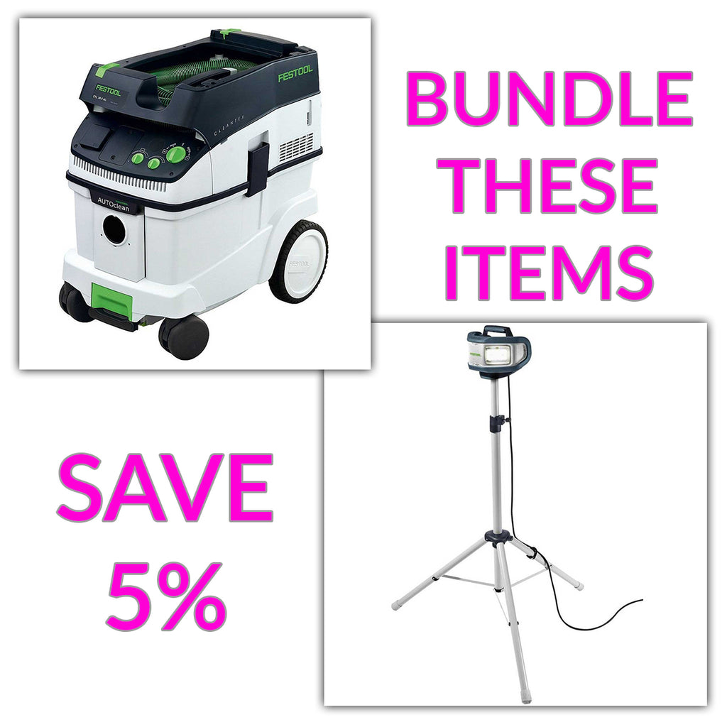 Bundle & Save! - CT 36 AC - AutoClean Dust Extractor + Festool SYSLITE DUO Work Light | Plus