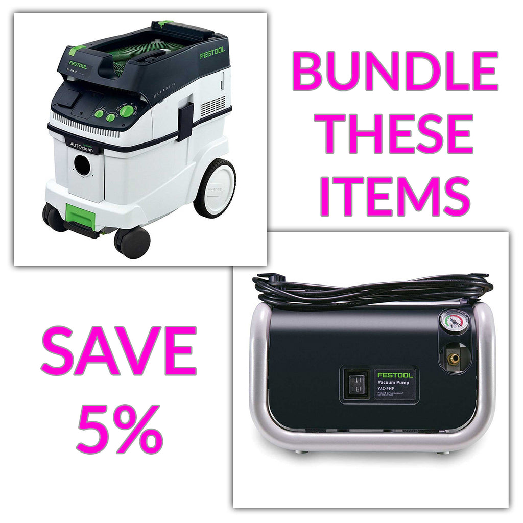 Bundle & Save! - CT 36 AC - AutoClean Dust Extractor + Festool VAC SYS Vacuum Pump