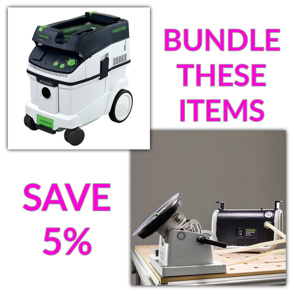 Bundle & Save! - CT 36 AC - AutoClean Dust Extractor + Festool VAC SYS Suction Clamping System Set | Pump & SE1 Clamping Module