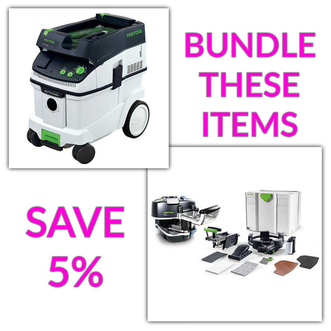 Bundle & Save! - CT 36 AC - AutoClean Dust Extractor + Festool Conturo KA 65 Edge Bander | Conturo Set