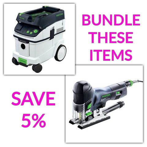 Bundle & Save! - CT 36 AC - AutoClean Dust Extractor + Festool Carvex Jigsaws - PS 420 EBQ & PSB 420 EBQ | D-Handle