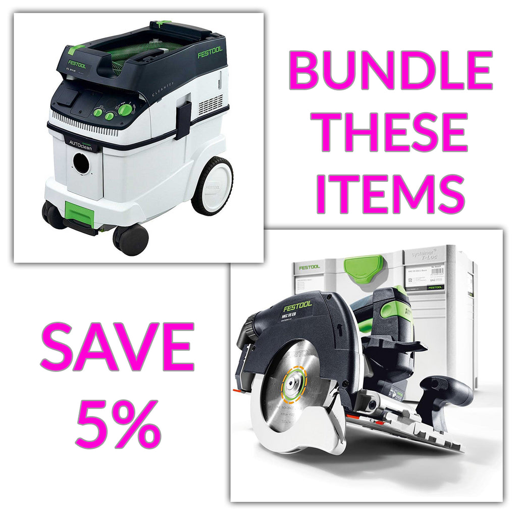 Bundle & Save! - CT 36 AC - AutoClean Dust Extractor + Festool Cordless HKC 55 Carpentry Tracksaws | Plus