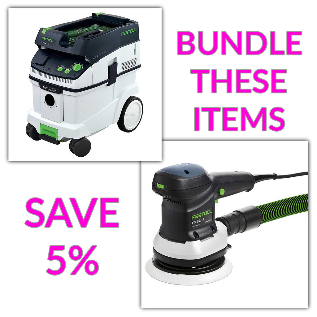 "Bundle & Save! - CT 36 AC - AutoClean Dust Extractor + Festool ETS 150 EQ 6"" Random Orbit Sanders 