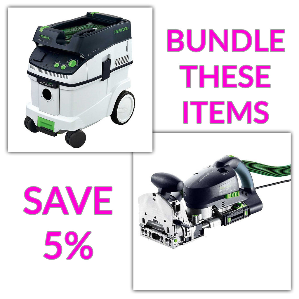 Bundle & Save! - CT 36 AC - AutoClean Dust Extractor + Festool Domino Joiner XL DF 700 | Non Set