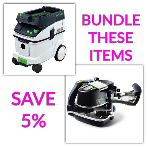 Bundle & Save! - CT 36 AC - AutoClean Dust Extractor + Festool Conturo KA 65 Edge Bander | Non Set