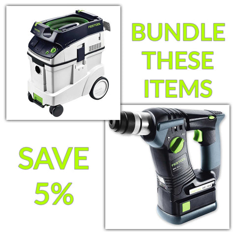 Bundle & Save! - CT 48 Dust Extractor + Festool BHC 18 SDS Rotary Hammer Drill | Basic