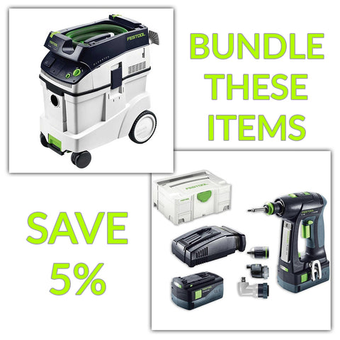 Bundle & Save! - CT 48 Dust Extractor + Festool C 18 Drill with Airstream Batteries | Set