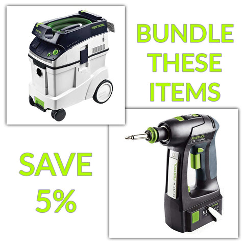Bundle & Save! - CT 48 Dust Extractor + Festool C 18 Drill with Airstream Batteries | Basic