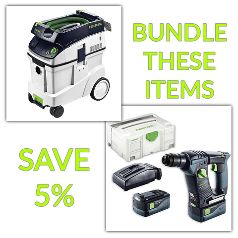 Bundle & Save! - CT 48 Dust Extractor + Festool BHC 18 SDS Rotary Hammer Drill | Set