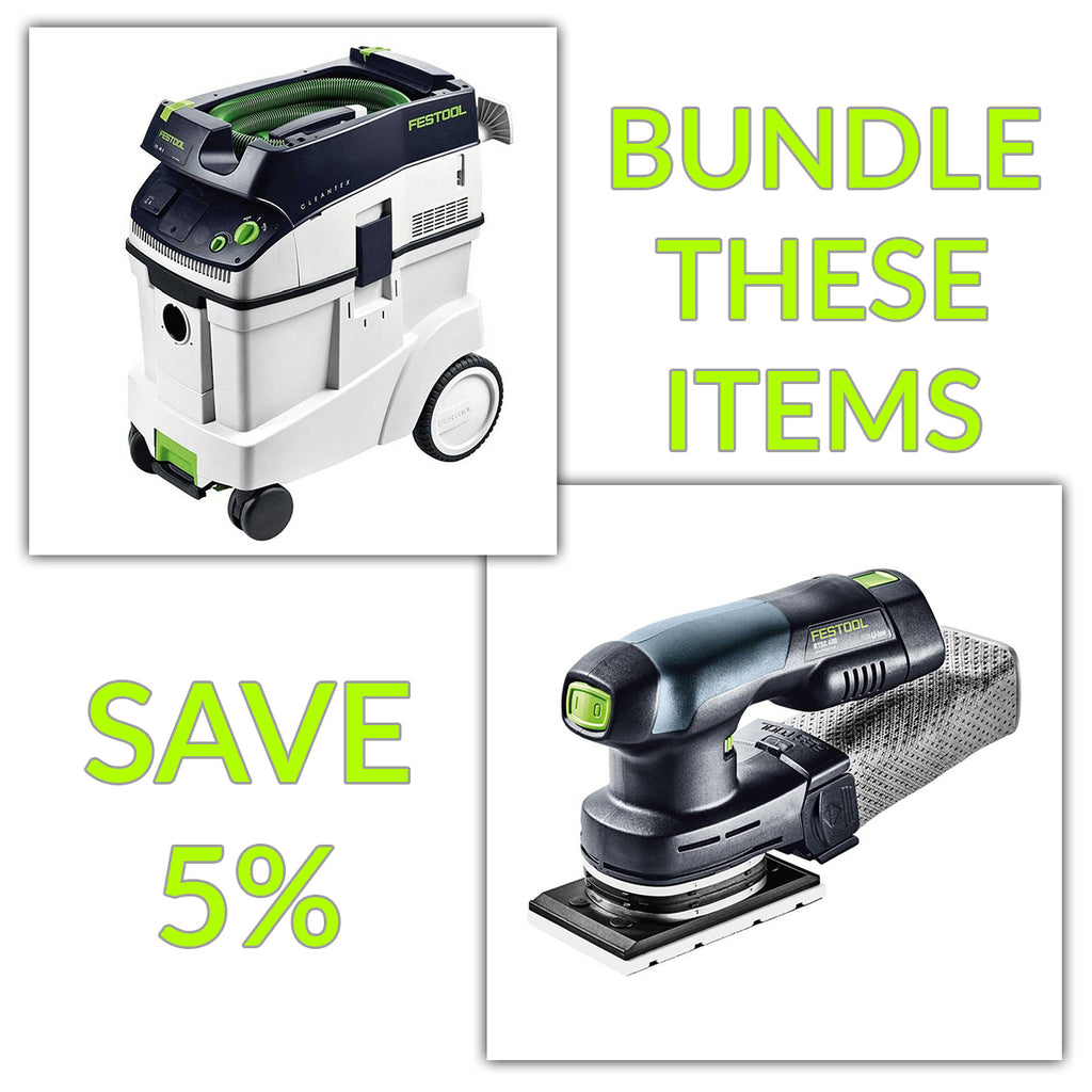 Bundle & Save! - CT 48 Dust Extractor + Festool RTSC 400 Cordless Orbital Rectangular Sander | Set