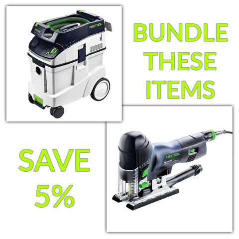 Bundle & Save! - CT 48 Dust Extractor + Festool Carvex Jigsaws - PS 420 EBQ & PSB 420 EBQ | Barrel Handle