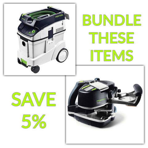 Bundle & Save! - CT 48 Dust Extractor + Festool Conturo KA 65 Edge Bander | Non Set
