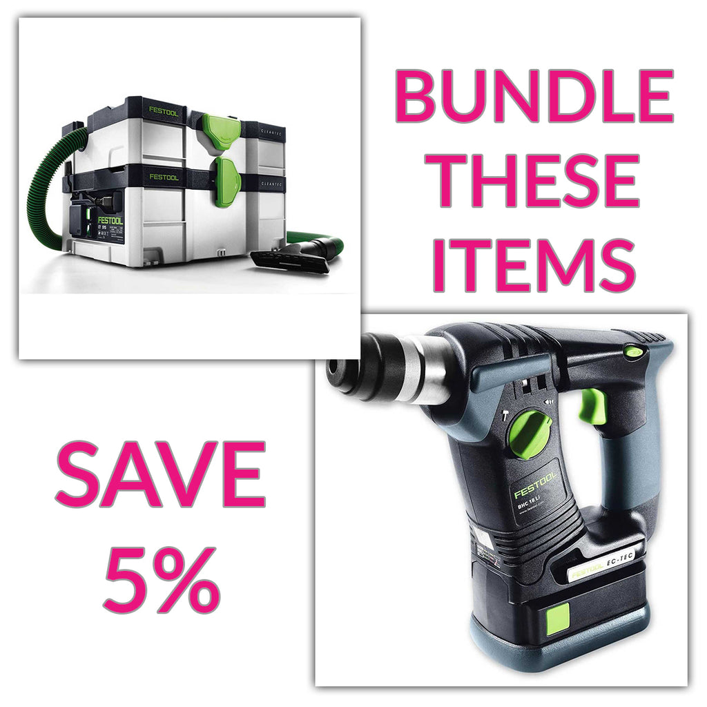 Bundle & Save! - CT SYS - Compact Systainer Dust Extractor + Festool BHC 18 SDS Rotary Hammer Drill | Basic